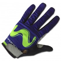 2017 Movistar Thermo Langarm Radhandschuhe