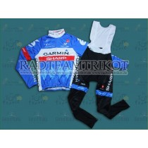 2014 Garmin Sharp Tour de France Thermo Langarm Radtrikot und Trägerhosen Set