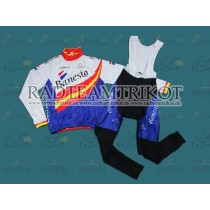 Banesto Spanish Champion Thermal Long Thermo Langarm Radtrikot und Trägerhosen Set