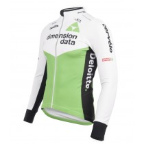 2018 Dimension Data Weiß Langarm Radtrikot