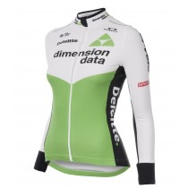 2018 Dimension Data Frauen Langarm Radtrikot