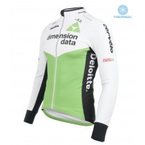 2018 Dimension Data Weiß Thermo Langarm Radtrikot