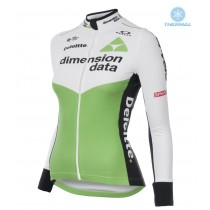 2018 Dimension Data Frauen Thermo Langarm Radtrikot